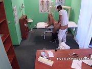 Doctor bangs big booty blonde teen patient
