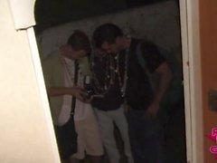 White Trash Teens Flashing at Campground