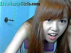 Skinny Asian Webcam Girl Dances For You