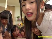 Ten Jav Idol Babes Rim Suck And Fuck Lucky Old Duffer Hes Does Them All Lined Up Excellent Scene