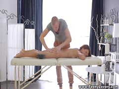 Teeny Lovers - Tattooed coed massage and fuck
