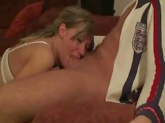 Blonde amateur can really deepthroat that dick