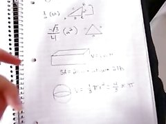 Teen Tutor Fucks Her Geometry Study Partner