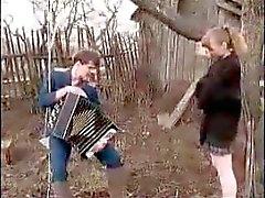 Russian Teen Girl Outdoor Fuck