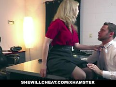 SheWillCheat - Older MILF Nina Hartley Hires Young Stud For