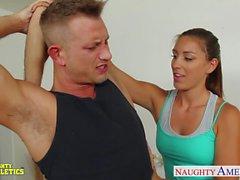 Sexy athlete babe Rilynn Rae gets fucked