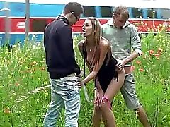 Public sex gangbang with gorgeous teen 2