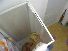 Spying lesbian shower fun my girlfriend