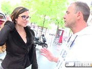 Hot Mira Cuckold Agrees to her First Public Porn Shoot