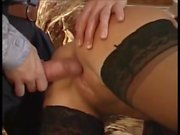 Hot young blonde Lucy gets tight holes fucked