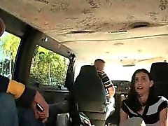Sex bus amateur fucked hard and facialized