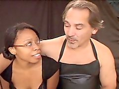 Hot Young Black Chick Bound and Blowjob