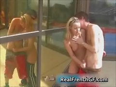Young french girlfriend rammed hard