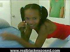 Dominican teen julie shakes her booty on webcam.