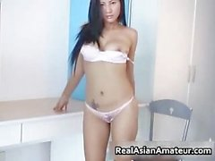 Big boobed asian hottie stuffing her part4