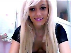 Blonde teen Homemade toying