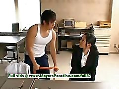 Sora Aoi innocent naughty chinese secretary enjoys getting fucked at break time