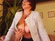 Big Tits German Mommy Fucked Young Guy Stockings Squirting