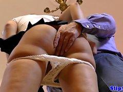 18yo spex schoolgirl facialized by UK senior