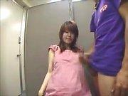 Japanese teens give cfnm handjob