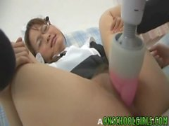 NAughty Asian teen gets pussy teased and fucked with dildos