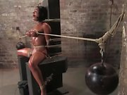 Tied up chick loves to get dominated