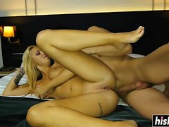 Blonde teen craves for a big dick