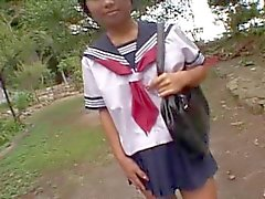 KASAI Mariko in school uniform