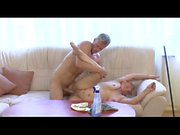 Oma shagged hard by young stud