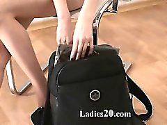 elegant babes with strapon in luxury