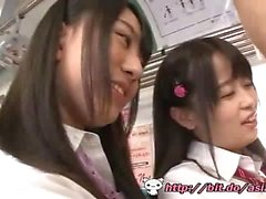 Asian schoolgirls train - Watch Part2 on link below