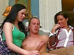 Slutty milf Brandi Love teaches couple