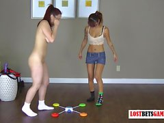 Two Stunning Teens Play a Strip Memory Game