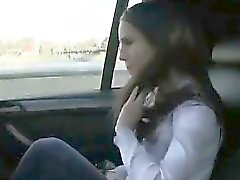 Cute busty brunette fucked in fake taxi