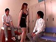 Big boobs Momoka Nishina as a teacher fucking