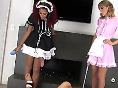 Kinky teenies fuck the biggest strap-on dildos and spray sem