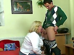 Obese grandma picked up by young stud and slammed