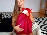 Cute russian teen solo striptease