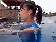Asian Teen Blue Swimsuit Pure non - nude