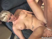 Young slut Claudia Downs having her first cock sucking and