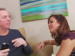 Young brunette Keisha Grey gives head