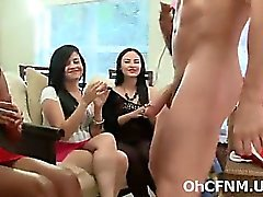 sexy young party girls sucking huge cock