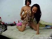 Chinese, Korean and Japanese girlfriends homemade porn video