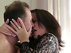 Italian mom and son college blowjob