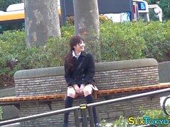 asian teen shows undies japanese