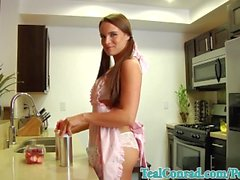 Sexy Teal Conrad Loves To Bananas in Her Kitchen!