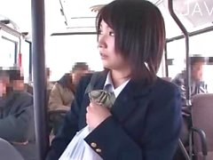 Jap teen makes sex in bus