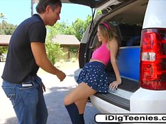 Petite teen Kimmy Granger sucks and fucks outdoor