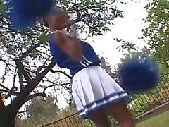 Ebony cheerleader fucked by biker playboy
