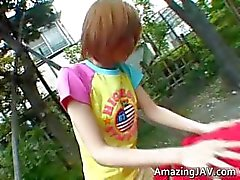 Asian redhead teen gets picked up for part4
